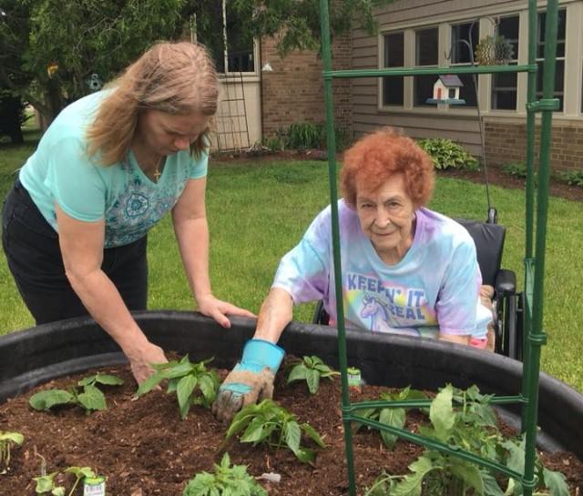 white lake memory care gardening amenity